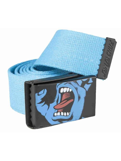 Pásek Santa Screaming hand blue
