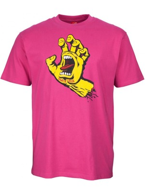 Tričko Santa Cruz Screaming Hand raspberry
