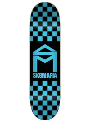 Skate deska Sk8Mafia House Logo Checker blue