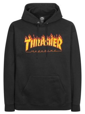 Pánská mikina Thrasher Flame Hood black de08c6231f3