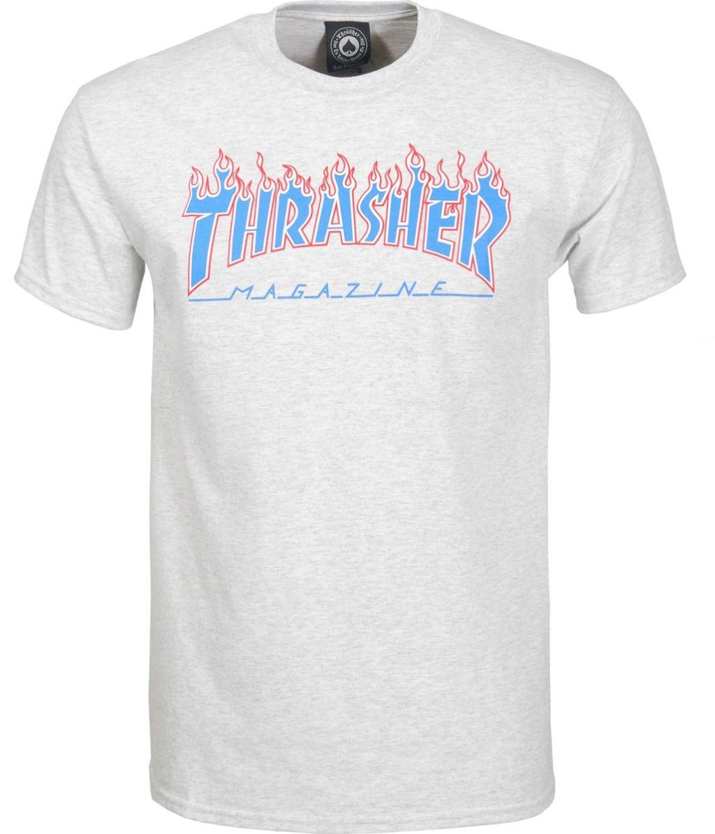 e2600c5b27e1 Pánské tričko Thrasher Patriot ash gray z kategorie Pánská skate trička.