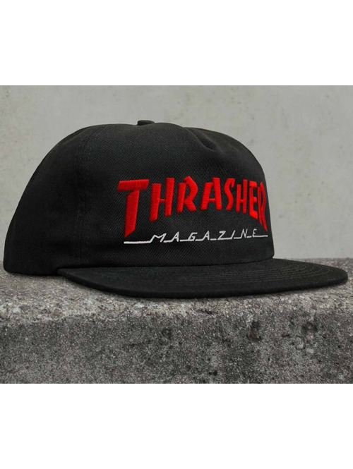 Kšiltovka Thrasher Magazine Logo Two-Tone black/ red
