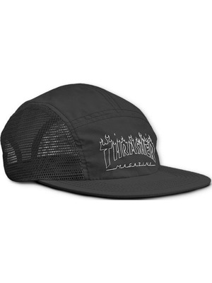 Kšiltovka Thrasher Flame outline 5-panel black