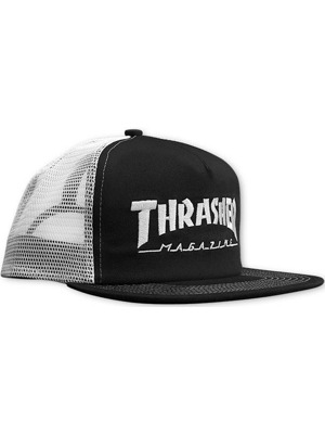 Kšiltovka Thrasher Logo Mesh embroidered black/white