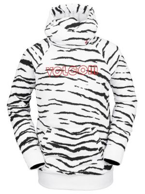 Mikina Volcom Hydro Riding Hoodie White Tiger